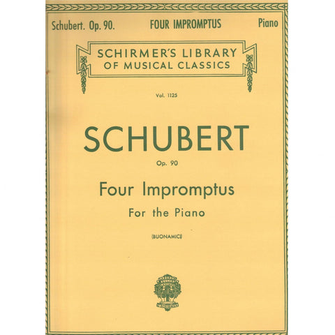 Four Impromptus for the Piano, Op. 90 by Schubert