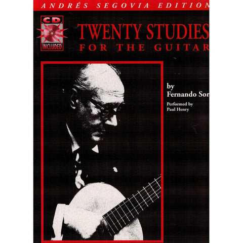 Twenty Studies for the Guitar: Andres Segovia Edition