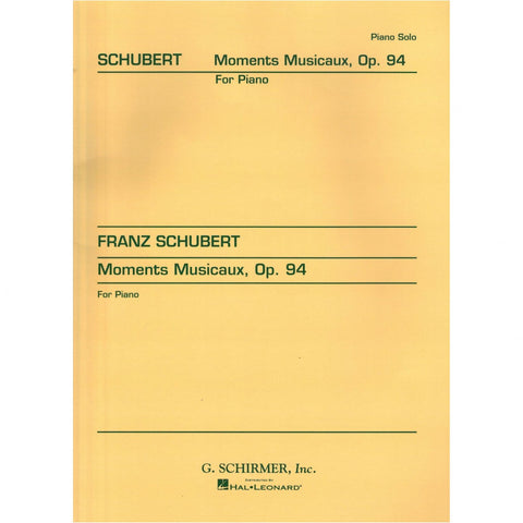 Moments Musicaux for Piano, Op. 94 by Schubert