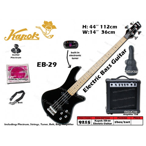 Kapok Electric Bass Guitar Starter Kit