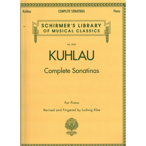 Complete Sonatinas for Piano by Kuhlau