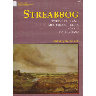 STREABBOG:TWELVE EASY AND MELODIOUS STUDIES, OPUS 63