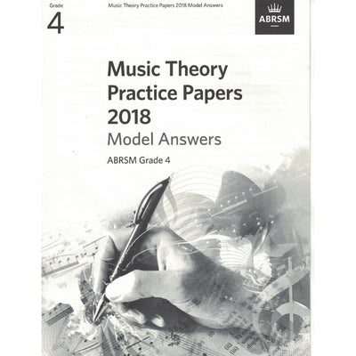 Music Theory Practice Papers 2018 Model Answers Grade 4