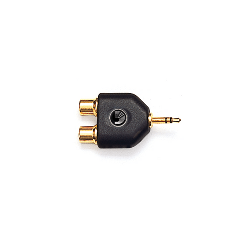 D'addario Planetwaves 1/8 INCH MALE STEREO TO DUAL RCA FEMALE ADAPTOR Audio Adaptors PW-P047C