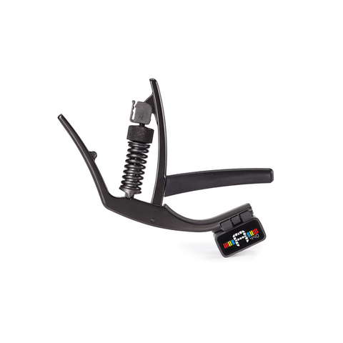 D'addario Planetwaves ARTIST CAPO WITH TUNER Adjustable Tension, Metallic Bronze PW-CP-10NSM