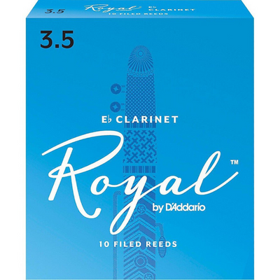 Royal by D'Addario RCB1035 Bb Clarinet Reeds, Strength 3.5, 10-pack