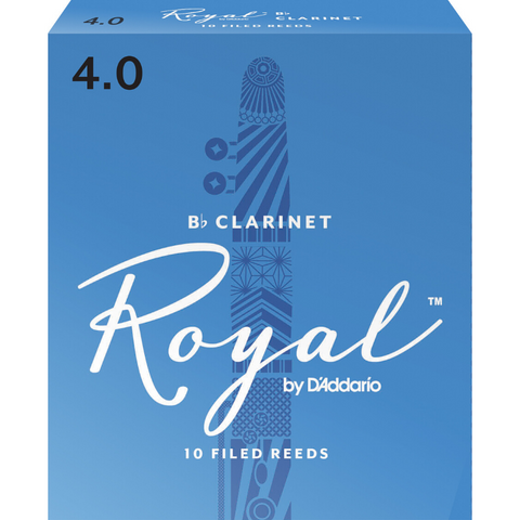 Royal by D'Addario RCB1040 Bb Clarinet Reeds, Strength 4.0, 10-pack