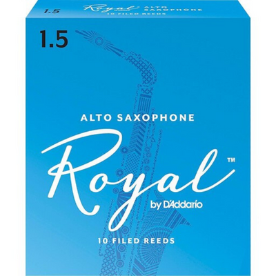 Royal by D'Addario RJB1015 Alto Sax Reeds, Strength 1.5, 10-pack