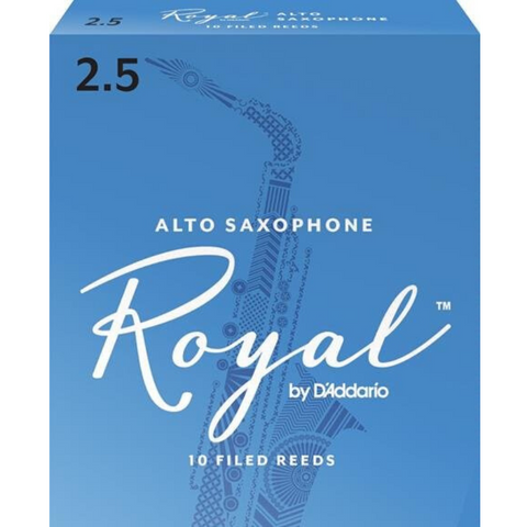 Royal by D'Addario RJB1025 Alto Sax Reeds, Strength 2.5, 10-pack