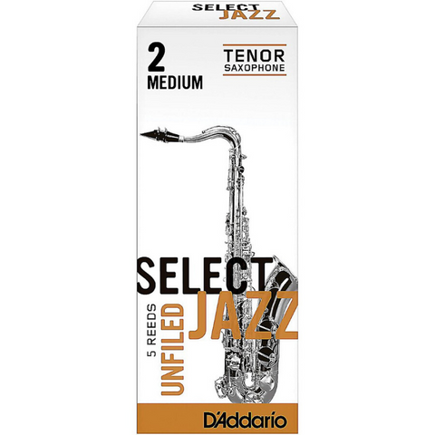 D'addario Select Jazz Unfiled Tenor Sax Reeds