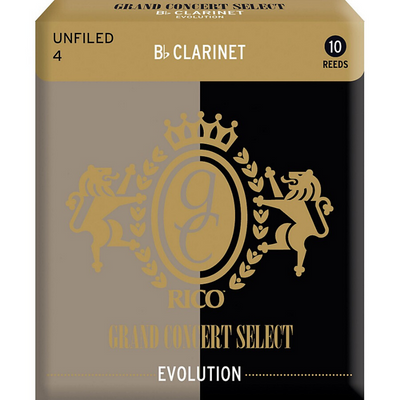 Rico Grand Concert Select Evolution Bb Clarinet Reeds, 10-pack