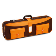 LANG CK-P99 CHOCO BROWN WITH ORANGE POCKETS VIOLIN CASE 4/4