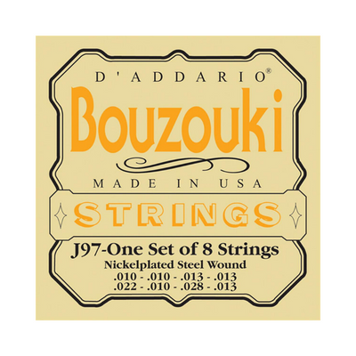D'addario Bouzouki Strings - J97 One set of 8 Strings
