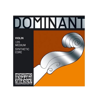 Dominant 135 Violin String Set Medium Synthetic Core 4/4 violin