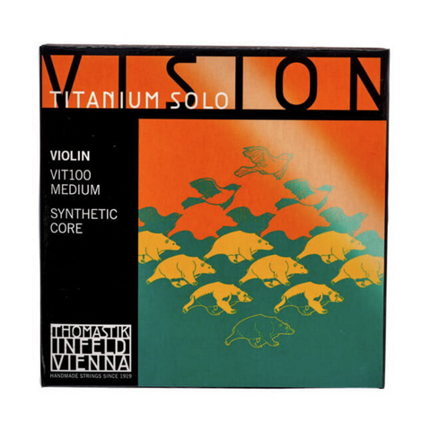 VIOLIN STRINGS THOMASTIK VISION TITANIUM SOLO VIT100 - MEDIUM 4/4