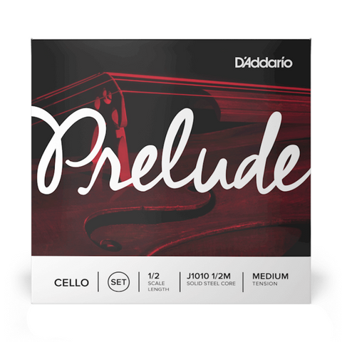 D'Addario Prelude Cello Strings Set 1/2 Scale Length Medium Tension - J1010 1/2M