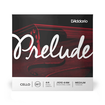 D'Addario Prelude Cello Strings Set 4/4 Scale Length Medium Tension - J1010 4/4