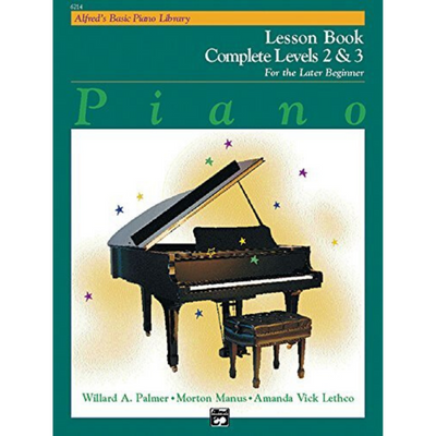 Alfred's Basic Lesson Book Complete Levels 2 & 3 Piano