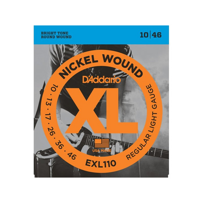 D'Addario EXL110 Nickel Wound Electric Guitar 10/46 - Regular Light Gauge