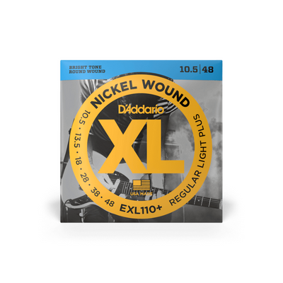 D'Addario EXL110+ Nickel Wound Electric Guitar 10.58-48 - Regular Light Plus