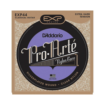 D'addario Coated Silver Plated Strings - Classical Guitar Extra Hard EXP44 - .0290/.047
