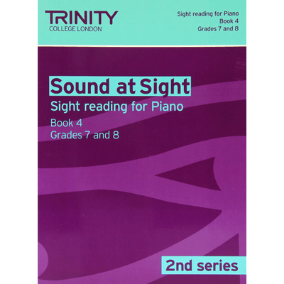 Trinity: Sound at Sight Piano Book 4 Grades 7&8