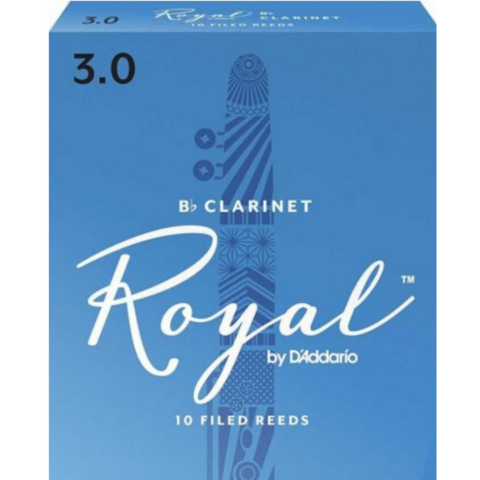 Royal by D'Addario RCB1030 Bb Clarinet Reeds 3.0 10-Pack