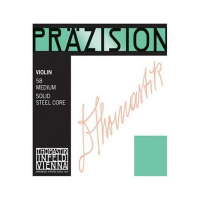 Thomastik Violin Set Prazision Violin 58 Medium Solid Steel Core - Thomastik Infeld Vienna