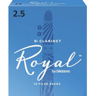 Royal by D'Addario RCB1025 Bb Clarinet Reeds 2.5 10-Pack