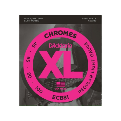 D'Addario ECB81 Chromes Regular Light Long Scale - 45/100