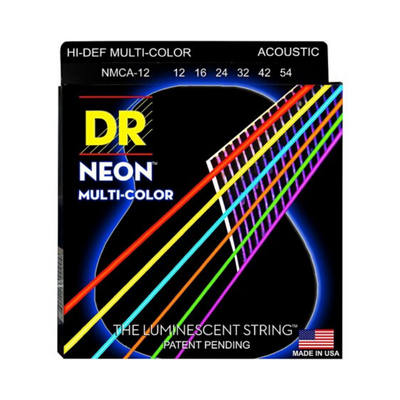 DR NEON NEON Multi-Color Acoustic Guitar Strings  NCMA (12-54)