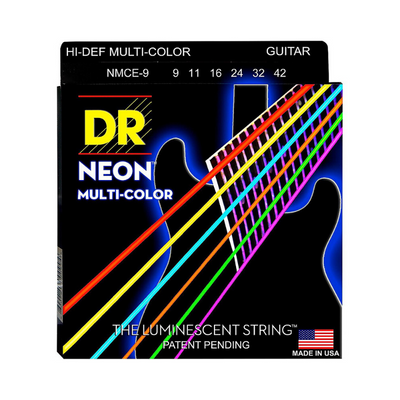 DR NEON Multi-Color Electric Guitar Strings  NCMA (9-42)