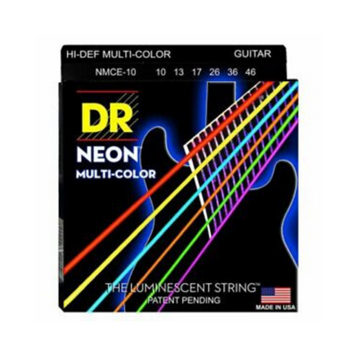 DR NEON Multi-Color Electric Guitar Strings  NCMA (10-46)