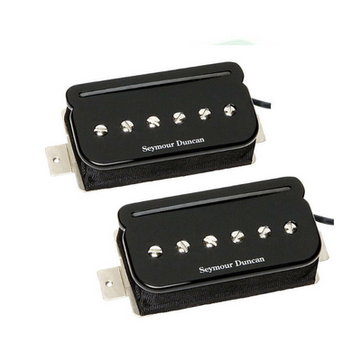 Seymour Duncan SHPR-1s P-Rails P90 Humbucker/Single Coil Neck/Bridge Set, Black (11303-03-B)