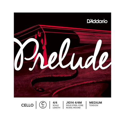 D'addario Prelude Single C String, 4/4 Scale, Medium Tension J1014 4/4M - Cello