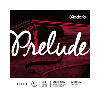 D'addario Prelude Single D String, 4/4 Scale, Medium Tension J1012 4/4M - Cello