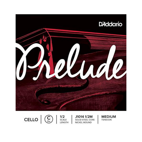 D'addario Prelude Single C String, 1/2 Scale, Medium Tension J1014 1/2M - Cello