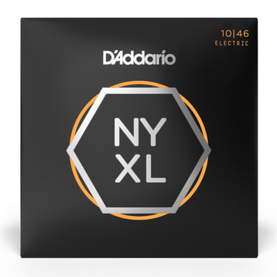 D'Addario NYXL Nickel Wound Electric Guitar Strings, Regular Light 10/46 Electric