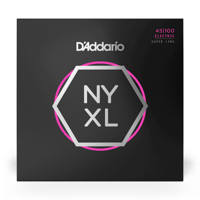 D'Addario NYXL Bass Guitar Strings Super Long Scale; 45-100