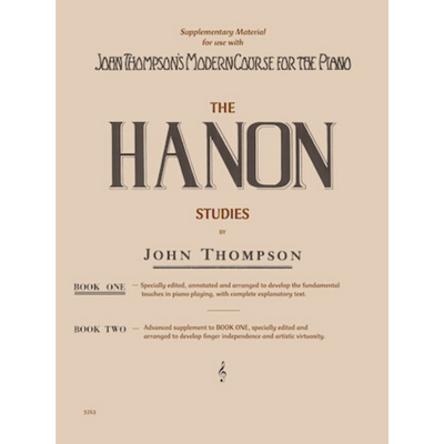 The Hanon Studies by John Thompson Book 1