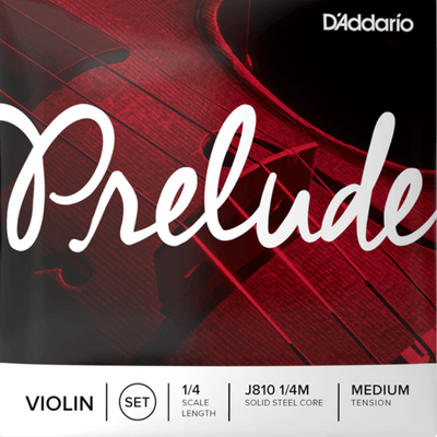 D'Addario Prelude Violin String Set, 1/4 Scale,J810 1/4 Medium Tension