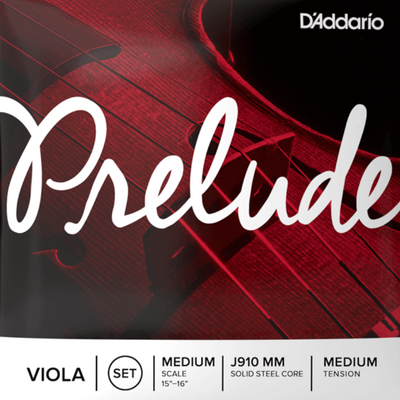"D'Addario Prelude Viola Strings Medium Tension J910 MM, Mediumscale 15""-16"""