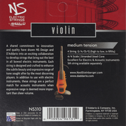 D'Addario NS310 Electric Violin String Set - 4/4 Scale, Medium Tension