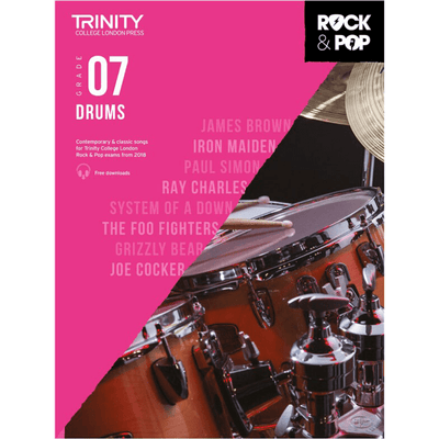 Trinity: Rock & Pop 2018 Drums Grade 7