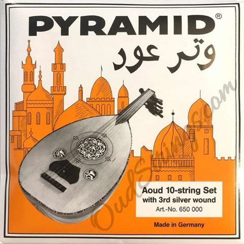 Pyramid 650-000 Orange Label Oud Strings Arabic Tuning 10 Strings w/3rd Wound
