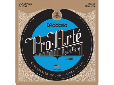 D'addario Pro Arte Nylon Core Classical Guitar Hard Tension - EJ46