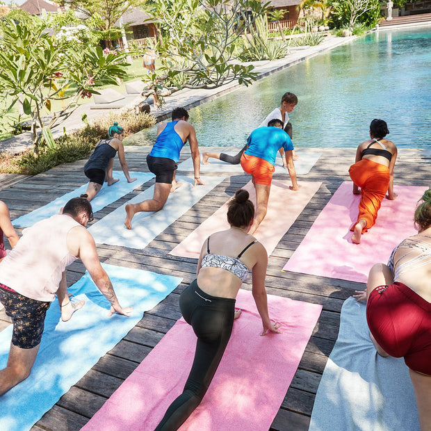 yoga retreat in bali needs the best yoga towel for travel dock and bay