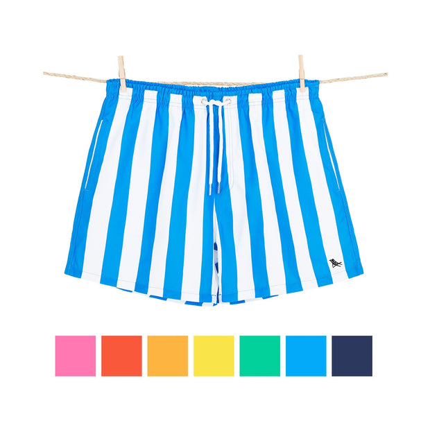 quick dry swim shorts blue