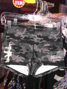 Stretchy AR and Flag Shorties Size 2