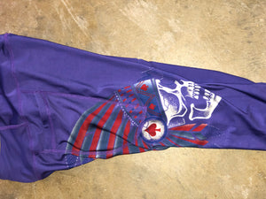 Purple Midnight Scalper Pocket Leggings